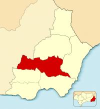 Mapa de área metropolitana