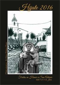 Cartel anunciando las fiestas de San Antonio de Padua. Fotografia de...