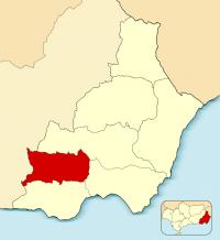 Mapa de Alpujarra almeriense