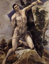 Martirio de San Sebastián, por El Greco