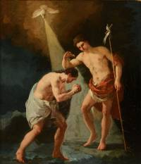 San Juan bautizando a Jesús. Francisco de Goya